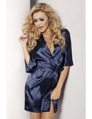 DKAREN tumši zila krāsas sieviešu halāts