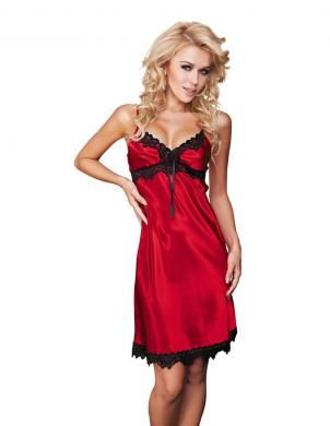 DKAREN sarkanas krāsas satīna sieviešu naktskrekls
