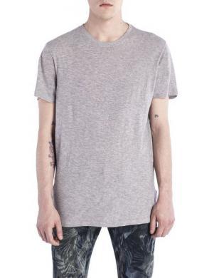 DIESEL vīriešu pelēkas krāsas kokvilnas krekls T-NETRA