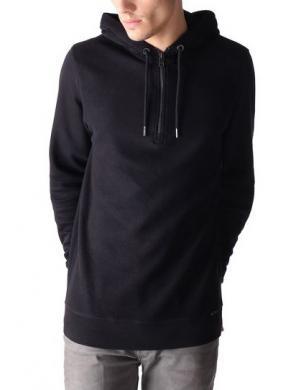 DIESEL melnas krāsas vīriešu kokvilnas džemperis S-JAPPU