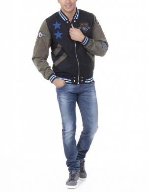 DIESEL vīriešu melnas/haki krāsas stilīga jaka J-TENDENCY