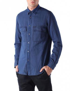 DIESEL stilīgs zilas krāsas vīriešu krekls