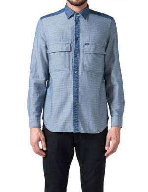 DIESEL vīriešu kokvilnas ar garām piedurknēm krekls HIN-D