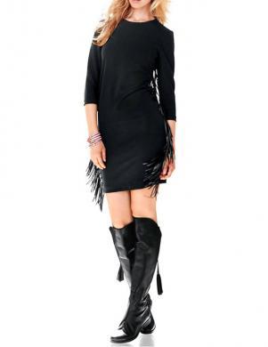 RICK CARDONA skaista melna kleita ar bārkstīm