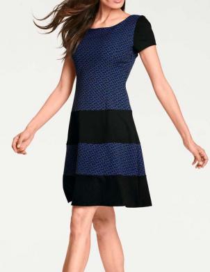 Tumši zila stilīga kleita ASHLEY BROOKE