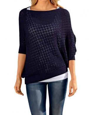 RICK CARDONA asimetrisks zilas krāsas sieviešu džemperis