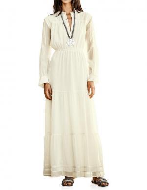 RICK CARDONA krēmveida krāsas gara sieviešu kleita