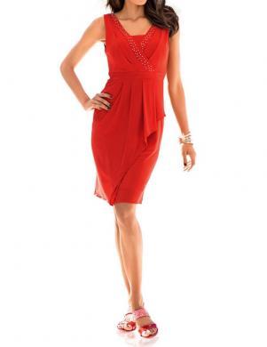 ASHLEY BROOKE koraļļu krāsas stilīga sieviešu kleita