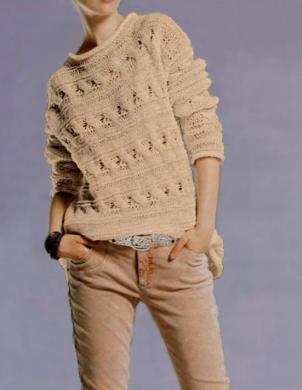 HEINE - BEST CONNECTIONS krēmīgas krāsas skaists sieviešu džemperis