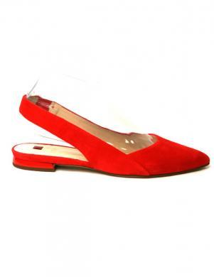 HOGL sieviešu sarkana ādas balerīnas KINDLY