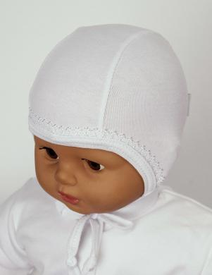 LAFEL baltas krāsas kokvilnas cepure