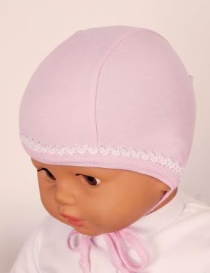 LAFEL rozā krāsas kokvilnas cepure