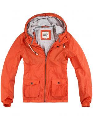 MISS SCOT skaits vīriešu koraļļu krāsas jaka ar kapuci