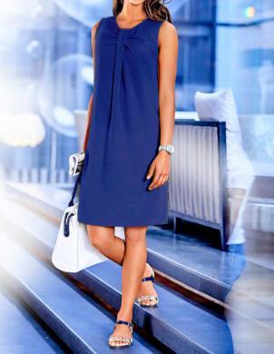 RICK CARDONA eleganta zilas krāsas sieviešu kleita