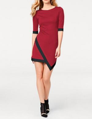 Sarkanas un Melnas krāsas sieviešu kleita RICK CARDONA
