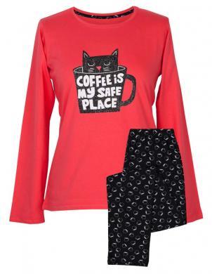 MUZZY sieviešu sarkana pidžama ar biksēm