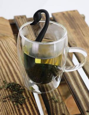 EASY LINE plastmasas tējas sietiņš SWAN melns
