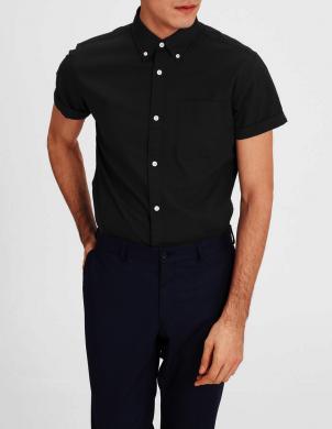 PREMIUM BY JACK&JONES vīriešu ar īsām piedurknēm kokvilnas krekls DAVID