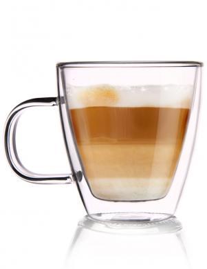 ORION dubulta borsilikāta stikla kafijas krūze ar rokturi  180 ml