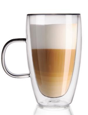 ORION dubulta borsilikāta stikla latte krūze ar rokturi  430 ml