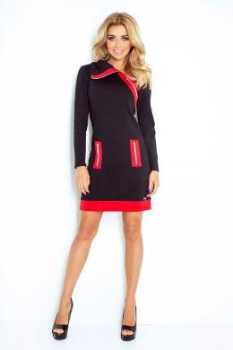 NUMOCO melnas krāsas sporta tipa kleita