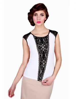 WAXIMA sieviešu baltas/melnas krāsas blūze