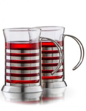 BORAL borsilikāta stikls krūzes Presso 250 ml, 2 gab.