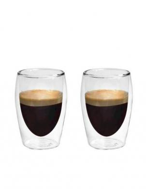 BORAL dubulta borsilikāta stikla glāzes Espresso 80 ml, 2 gab.