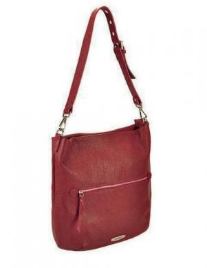 PIERRE CARDIN sarkanas krāsas ādas sieviešu soma