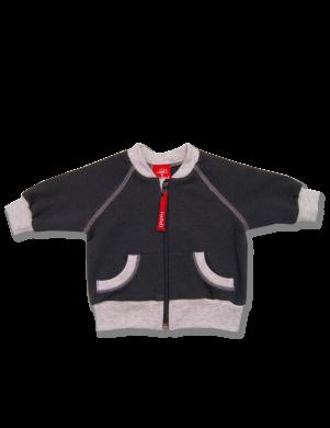 Tumšas krāsas kokcvilnas bērnu džemperis Rider LAFEL