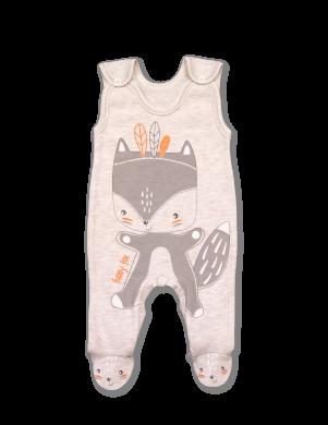Smilšu krāsas kokvilnas kombinezons Funny Fox LAFEL