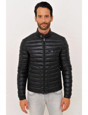 GOOSE FEEL vīriešu stilīga dūnu melnas krāsas jaka TOBIAS