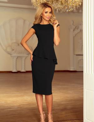 NUMOCO melna eleganta kleita