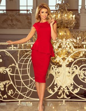 NUMOCO sarkana eleganta kleita