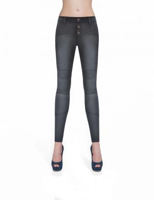 BAS BLEU melnas sieviešu džinsa bikses