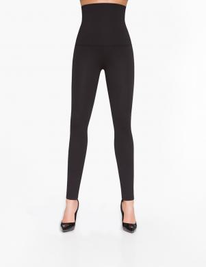 BAS BLEU melnas sieviešu bikses ar paaugstinātu vidukli