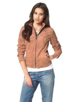 TOM TAILOR ādas sieviešu brūnas krāsas jaka