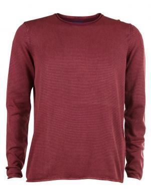 TOM TAILOR vīriešu sarkanas krāsas kokvilnas džemperis