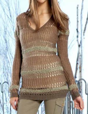APART plankumains džemperis