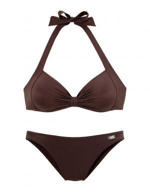 BUFFALO brūnas krāsas divu daļu sieviešu peldkostīms