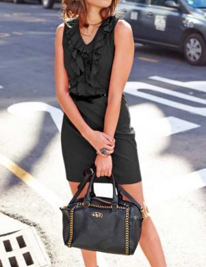 ANISTON eleganta melna kleita bez piedurknēm