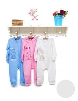 FLAMINGO TEXTILE rāpulīši-pidžama baltā krāsā