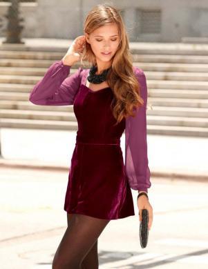 BUFFALO stilīga sieviešu bordo krāsas kombinezons