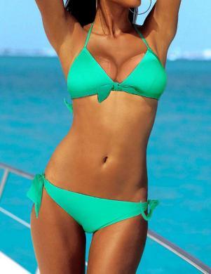 VENICE BEACH piparmētru krāsas divu daļu sieviešu peldkostīms