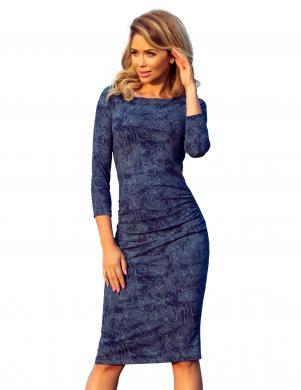 NUMOCO zila stilīga kleita