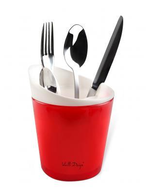 VIALLI DESIGN virtuves priekšmetu žāvētājs sarkanā krāsā LIVIO