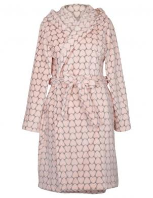 MUZZY rozā silta sieviešu halāts