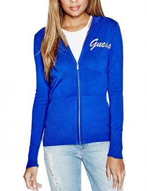 GUESS zils džemperis ar kapuci