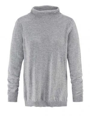 DELICATE LOVE pelēkas krāsas sieviešu džemperis no kašimīra