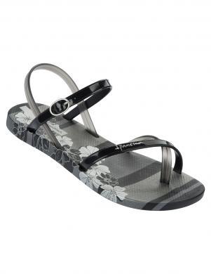 IPANEMA sieviešu melnas gumijas sandales pār pirkstu